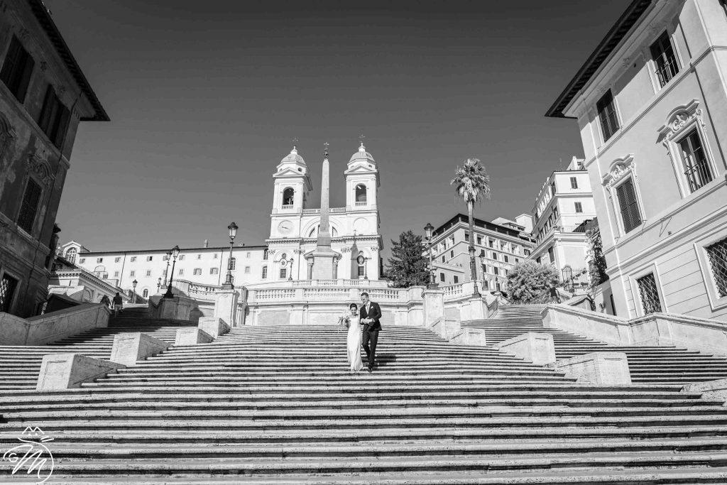 Vantaggi sposarsi senza invitati a Roma, piazza di Spagna