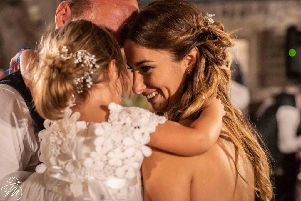 Foto emozionali in un matrimonio